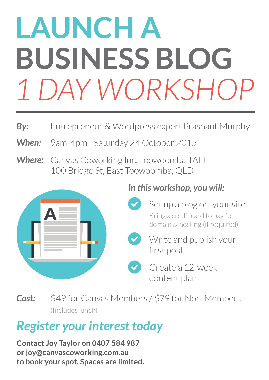Launch a Business Blog