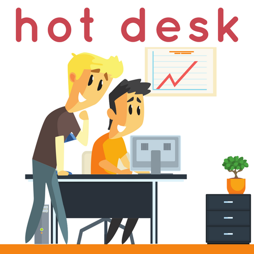 Hot Desk Weekly Canvas Coworking