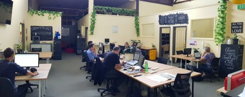 Coworking desk space at Canvas Coworking, Toowoomba