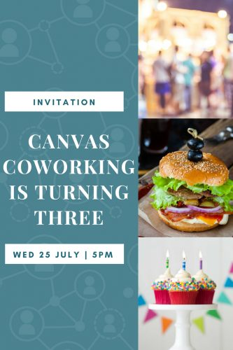 Canvas Coworking Third Birthday BBQ and Cake