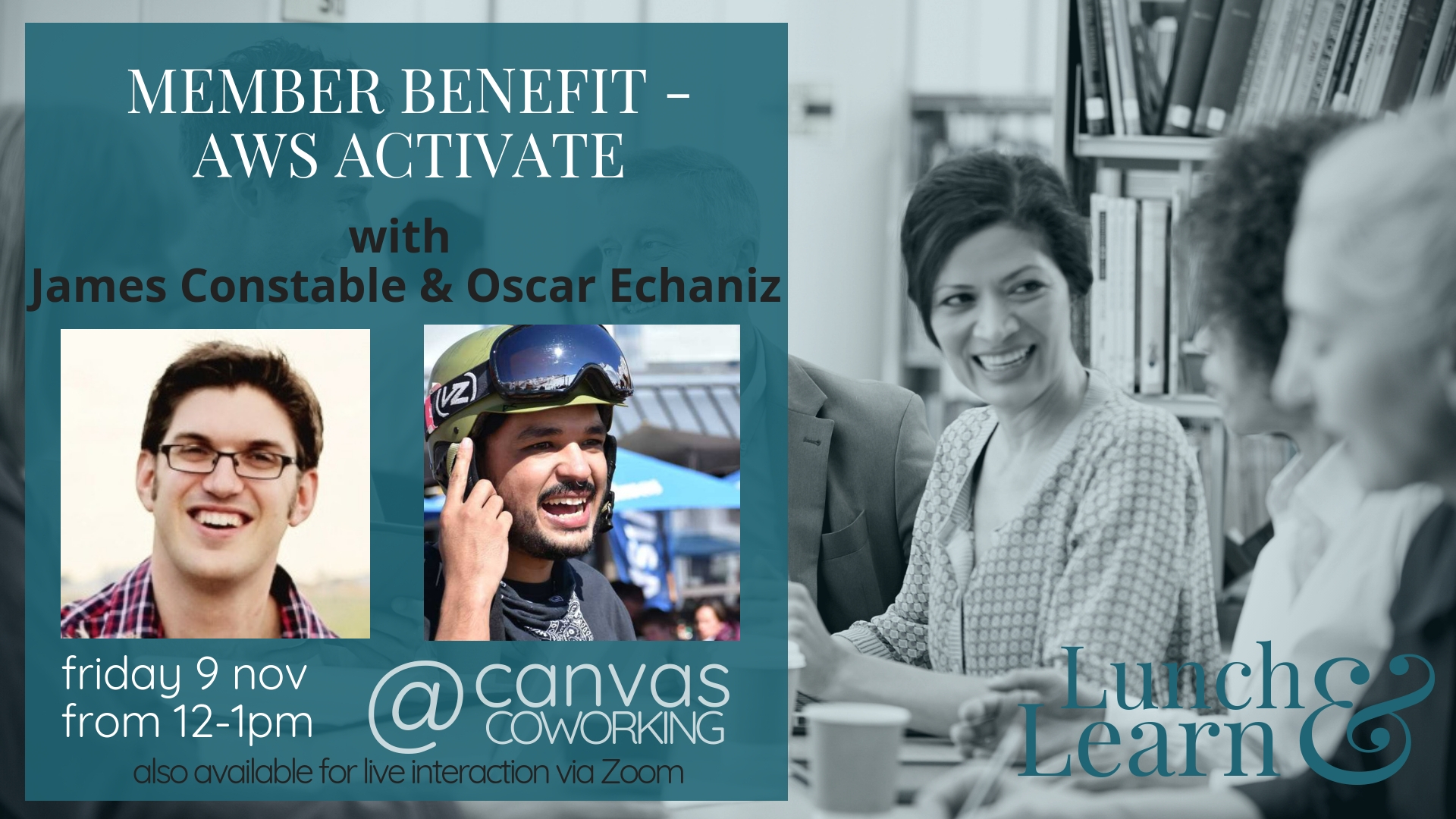 Lunch & Learn - AWS Activate - Member Benefit - Canvas Coworking