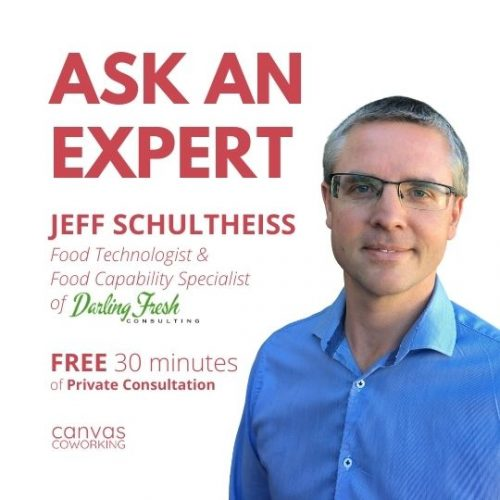 Canvas Coworking - Food Manufacturing - Jeff Schultheiss - Second Friday of the month