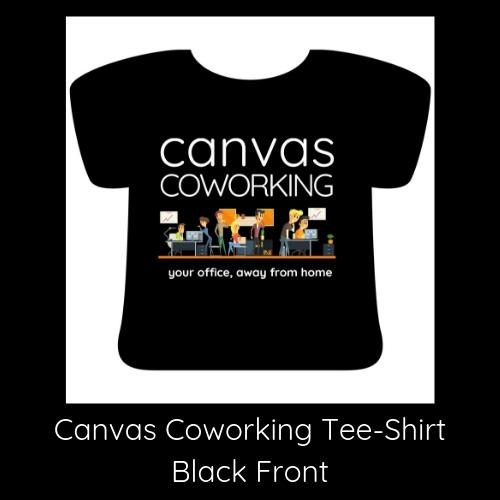 Canvas Coworking Teeshirt Black Front