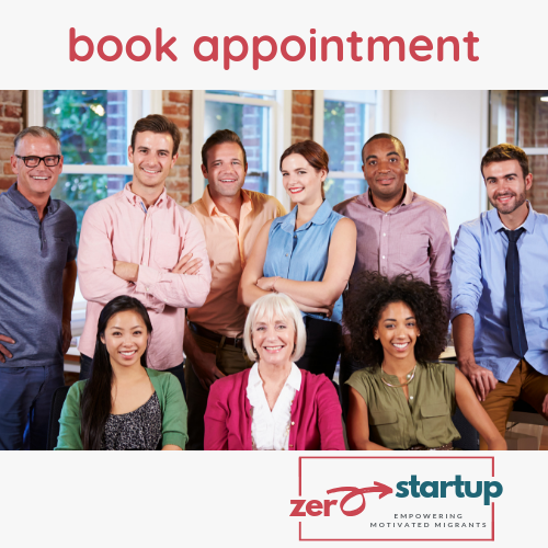 Book an appointment for a consultation with Zero to Startup at Canvas Coworking
