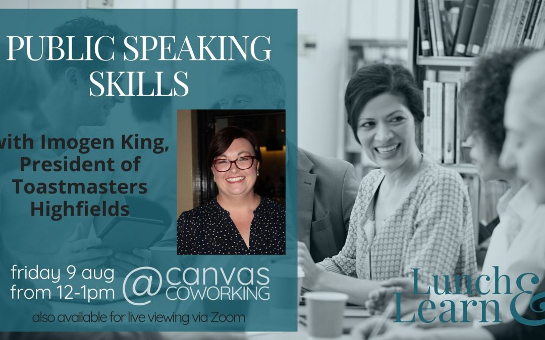 Public Speaking Skills with Imogen King: Lunch & Learn