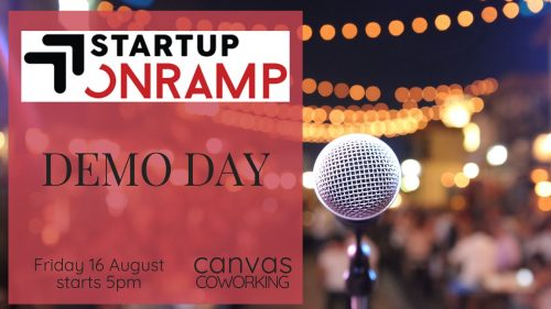 Startup Onramp Demo Day at Canvas Coworking Toowoomba on Friday 16 August 2019