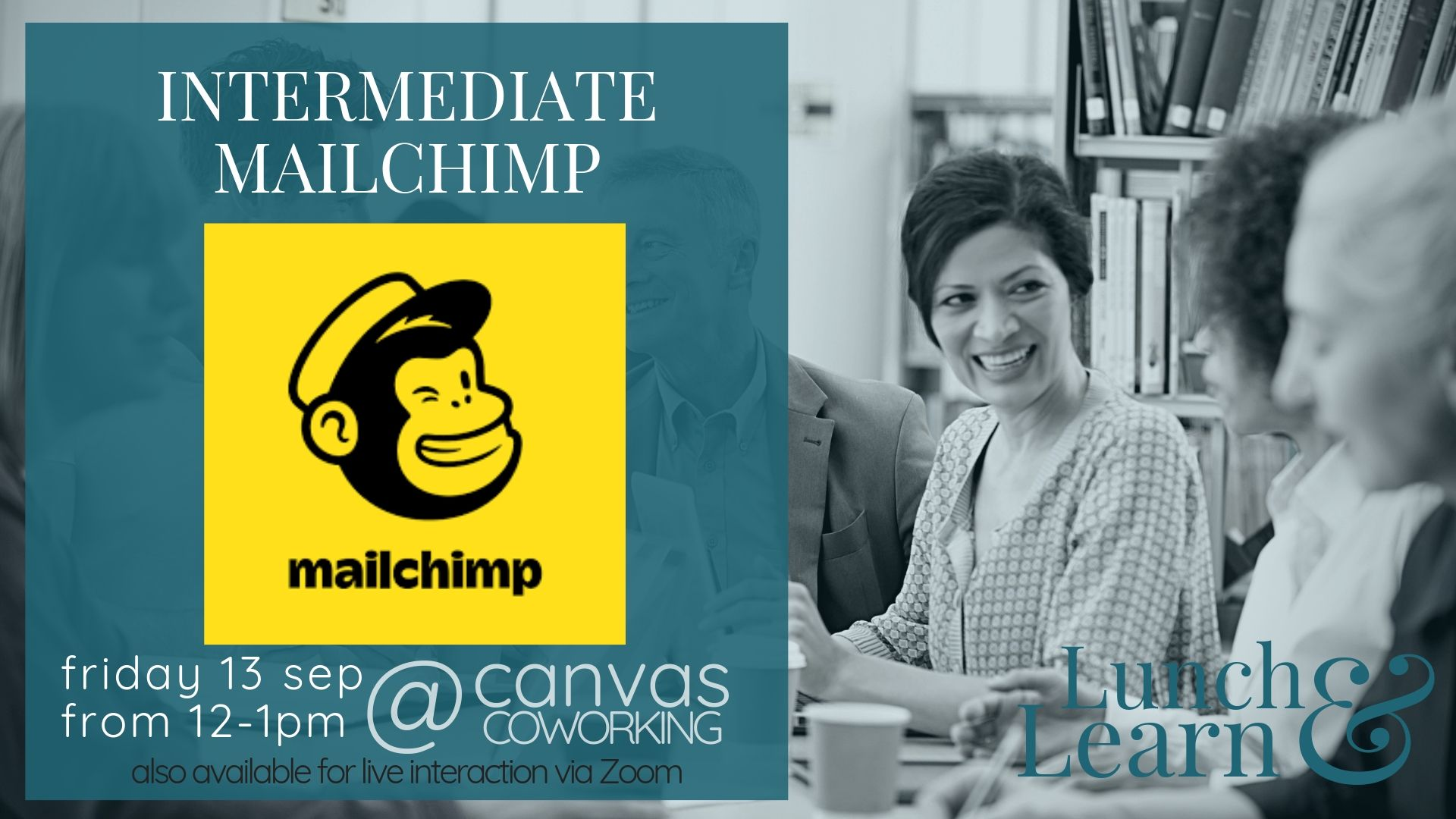 Intermediate Mailchimp, Lunch & Learn, Friday 13th September at Canvas Coworking