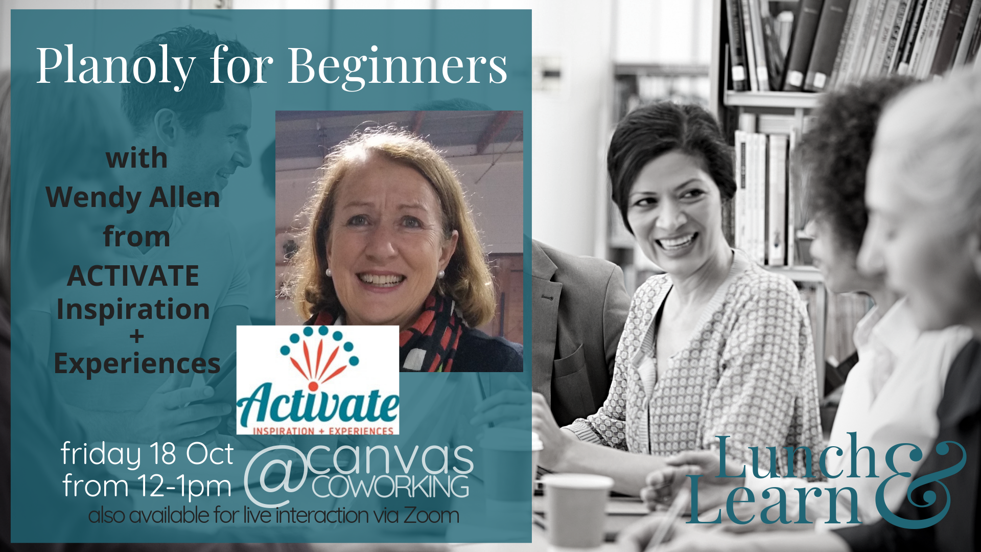 Planoly for Beginners with Wendy Allen for Lunch and Learn at Canvas Coworking 18th October 2019