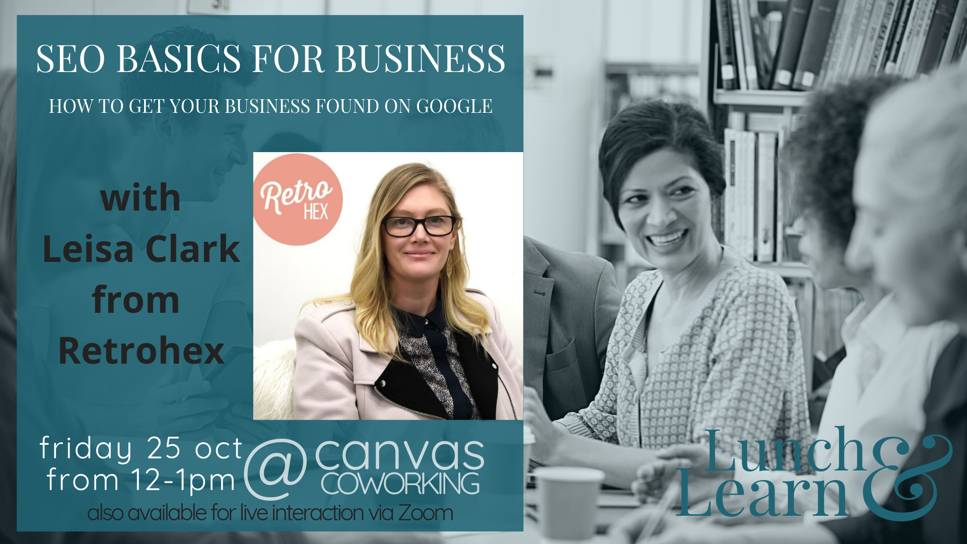 SEO Basics for Business, lunch and learn, canvas coworking 25 October 2019