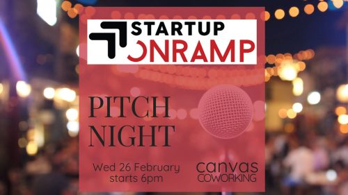 Startup Onramp Pitch Night 26 February 2020 Canvas Coworking Toowoomba