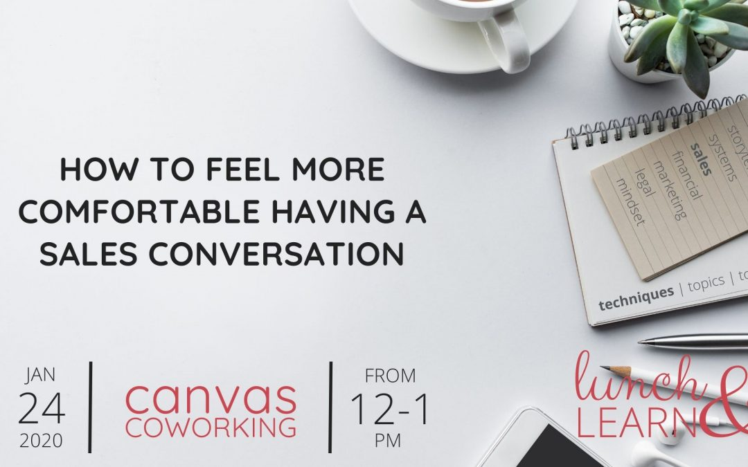 Recording – How to feel more comfortable having a sales conversation