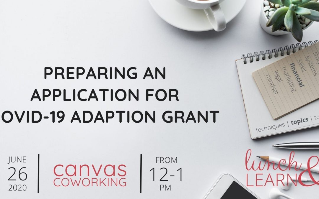 Recording – Preparing an Application for Covid-19 Adaption Grant
