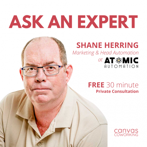 Canvas Coworking - Marketing Automation - Shane Herring - Third Wednesday of the month