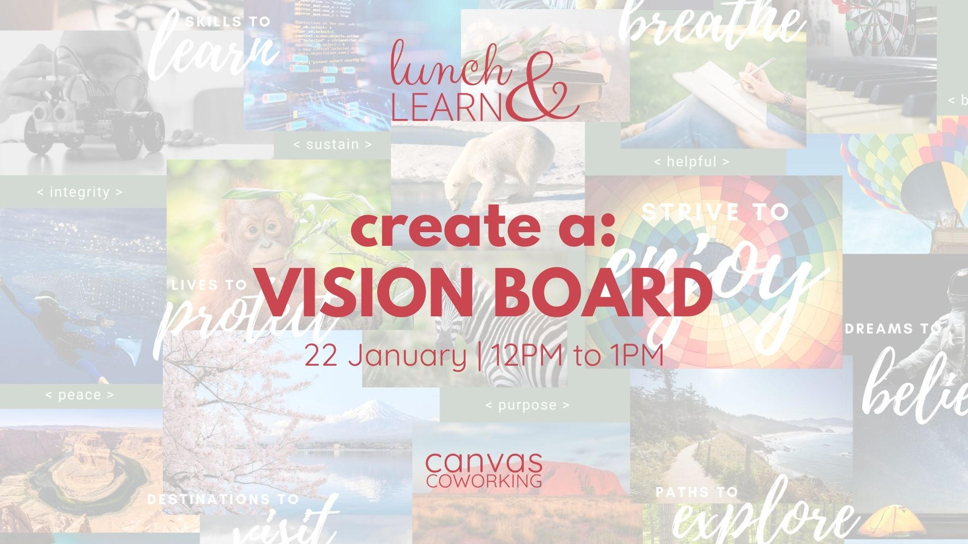 Lunch & Learn - 22 Jan 2021 - Create a Vision Board at Canvas Coworking