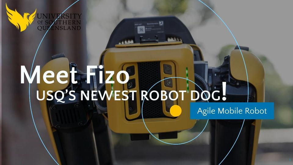 Meet Fizo the robo dog at Toowoomba Entrepreneur's Evening on 30 June at Canvas Coworking